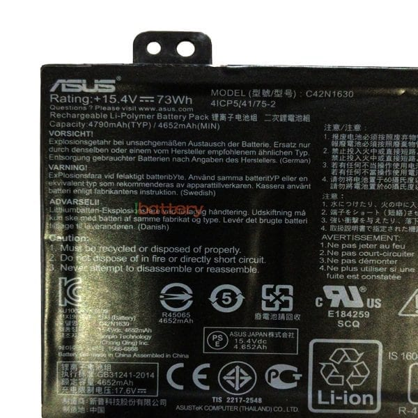 Original laptop battery for ASUS UX550VE