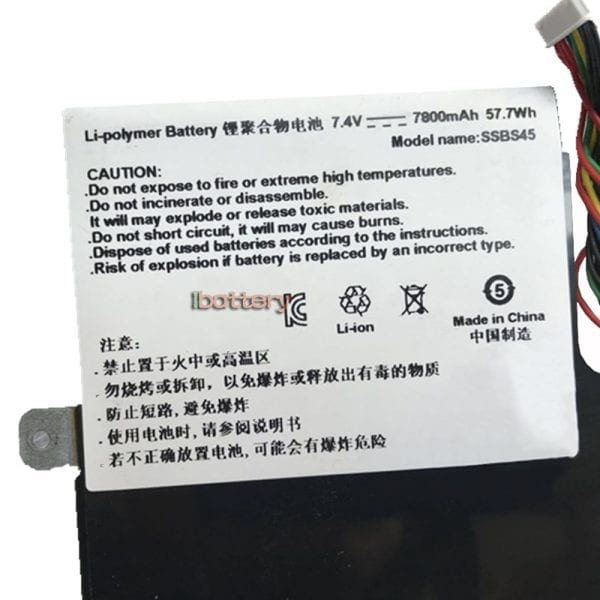 Original laptop battery for Hasee SSBS45