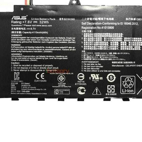 Original laptop battery for ASUS E402S,E502S