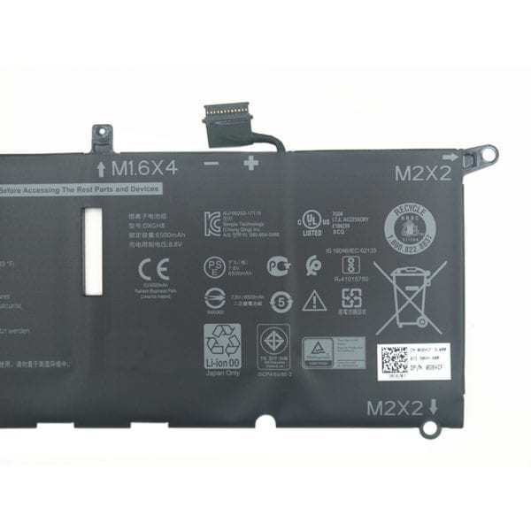 Original laptop battery for  DELL XPS 13 9370,0H754V