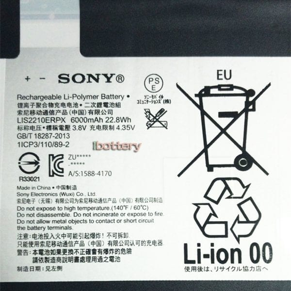 Original tablet battery for SONY SGP712,SGP771
