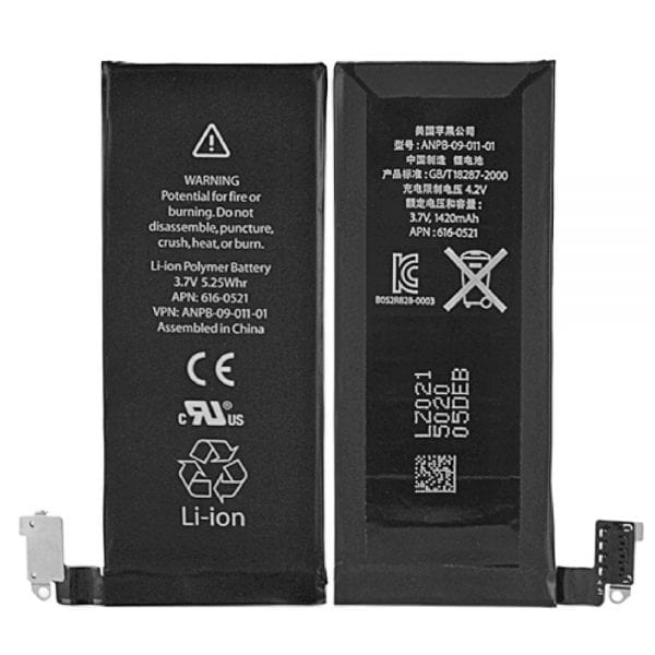 Original cell phone battery 616-0521 for iphone 4