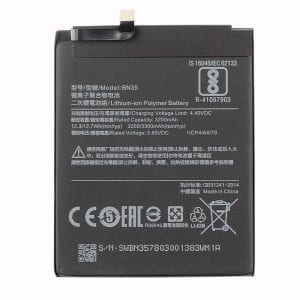 Original cell phone battery BN35 for Xiaomi Redmi 5