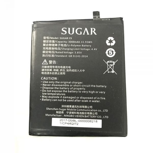 Original cell phone battery for SUGAR Y9