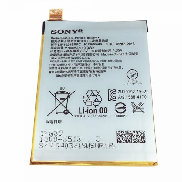 Original cell phone battery LIP1624ERPC for SONY Xperia X Performance