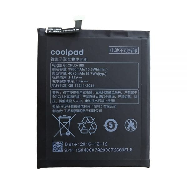 Original cell phone battery CPLD-180 for Coolpad S1