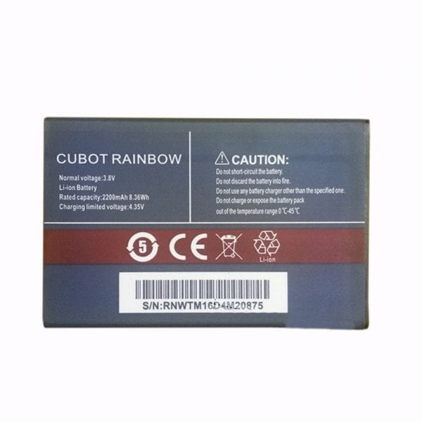 Original cell phone battery for CUBOT RAINBOW