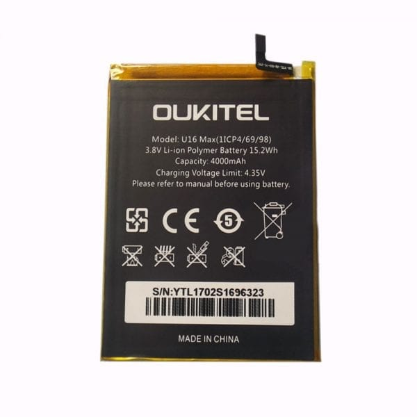 Original cell phone battery for OUKITEL U16 MAX