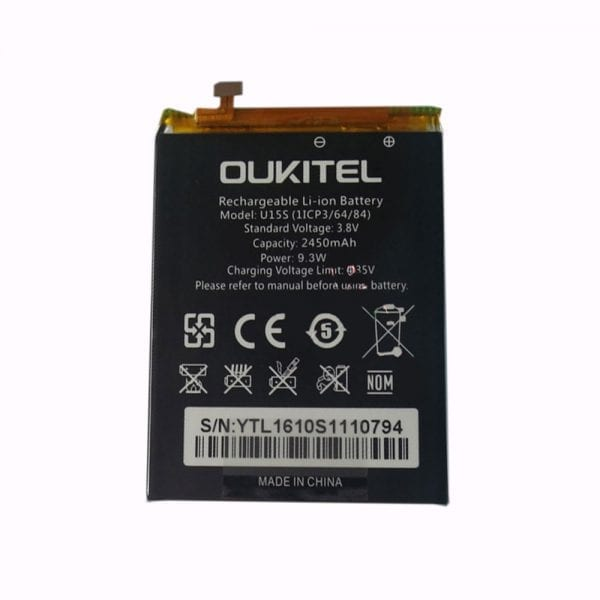 Original cell phone battery for OUKITEL U15S