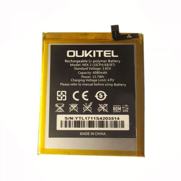 Original cell phone battery for OUKITEL mix 2