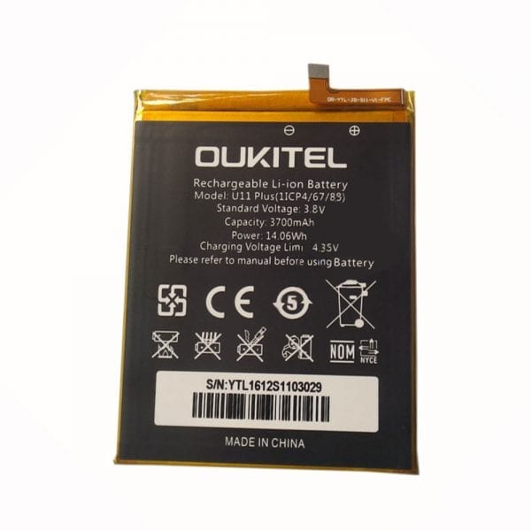 Original cell phone battery for OUKITEL U11 plus