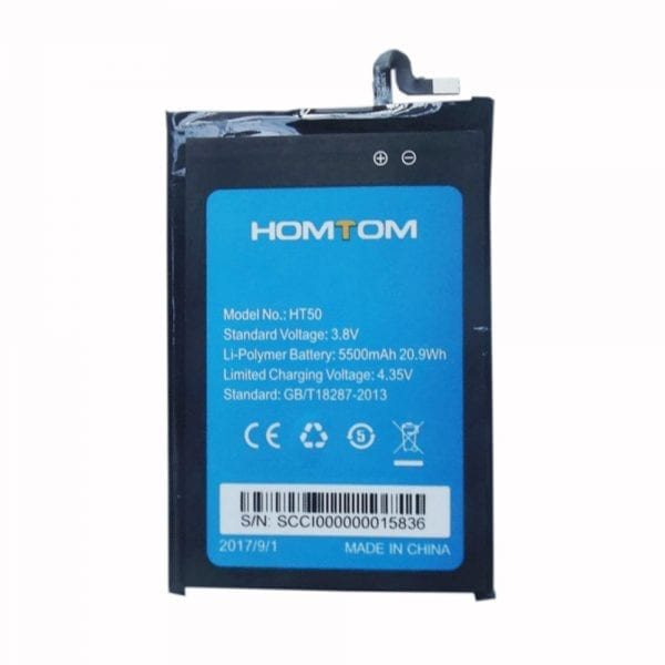 Original cell phone battery for HOMTOM HT50