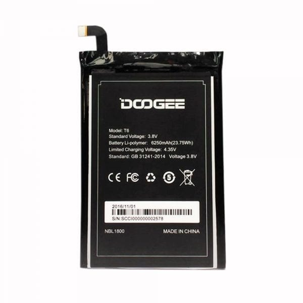 Original cell phone battery for DOOGEE T6
