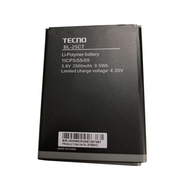 Original cell phone battery for TECNO BL-25CT