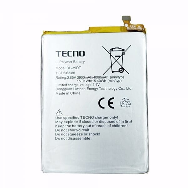 Original cell phone battery for TECNO BL-39DT