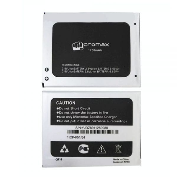 Original cell phone battery for Micromax Q414