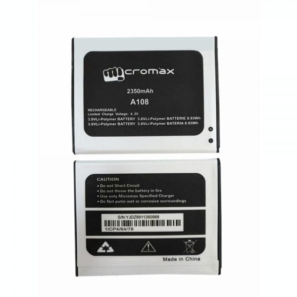 Original cell phone battery for Micromax A108