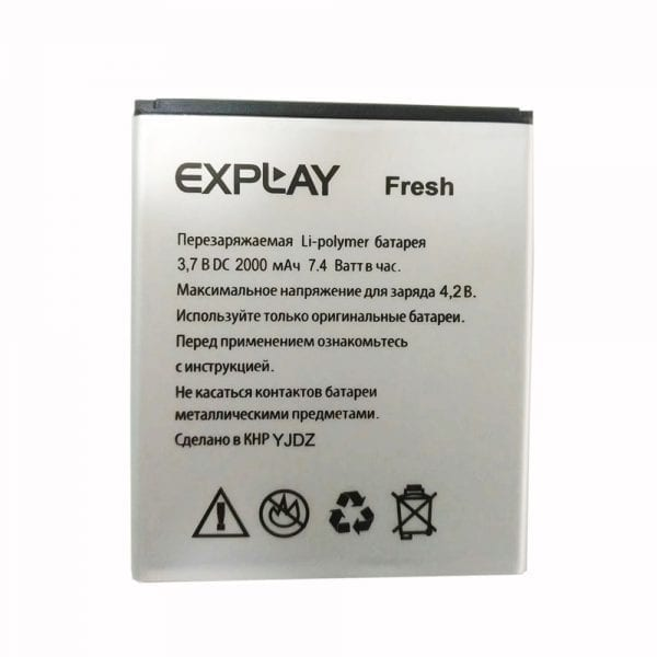 Original cell phone battery for Explay Fresh