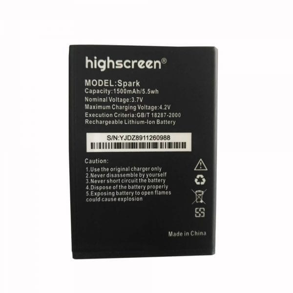 Original cell phone battery for Highscreen Spark