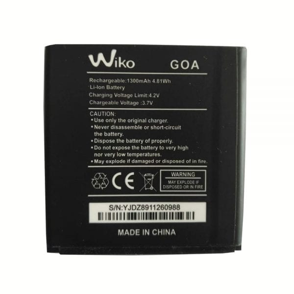 Original cell phone battery for Wiko GOA