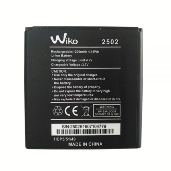 Original cell phone battery for Wiko 2502