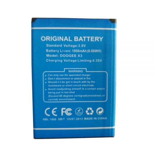 Original cell phone battery for DOOGEE X3