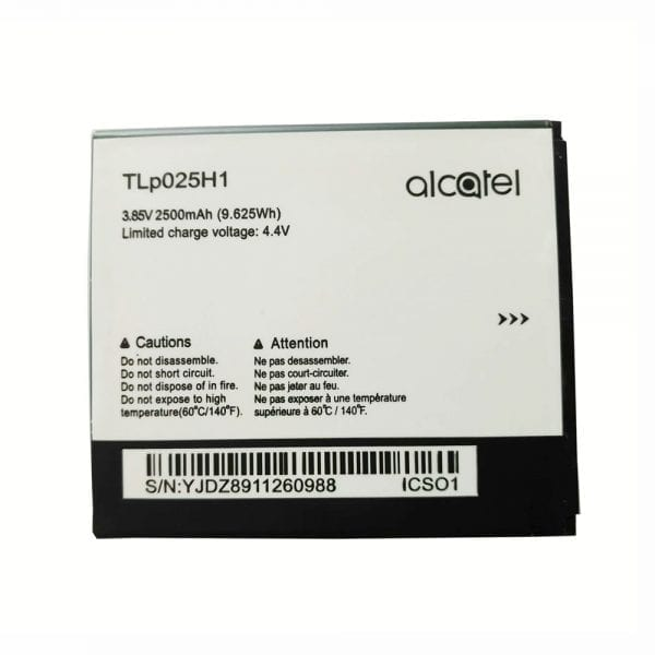 Original cell phone battery for Alcatel TLp025H1
