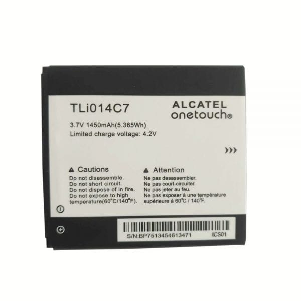 Original cell phone battery TLi014C7 for Alcatel onetouch OT4024
