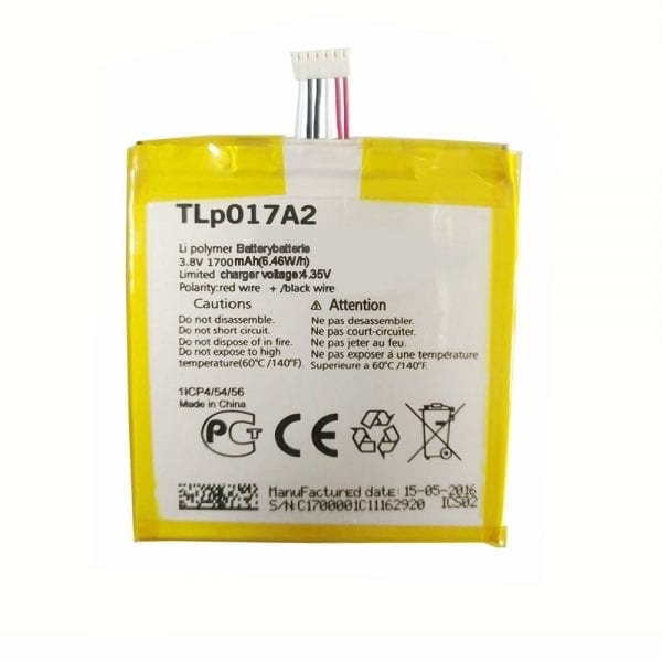 Original cell phone battery TLP017A2 for Alcatel idol mini,OT-6012A/D/E/W,TCLS530T,6014x