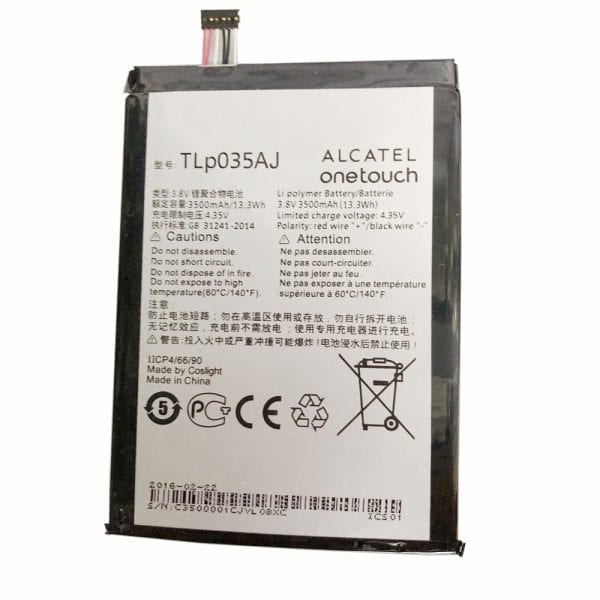 Original cell phone battery TLP035AJ for Alcatel onetouch N1 MAX