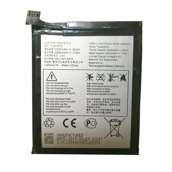 Original cell phone battery TLP029CC for Alcatel