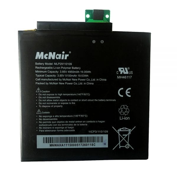 Original tablet battery for McNair MLP29110109