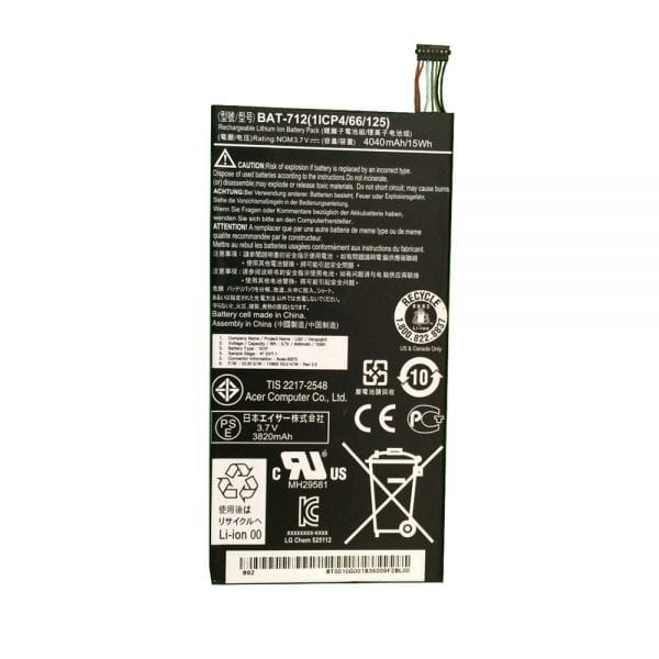 Original tablet battery for ACER BAT-712