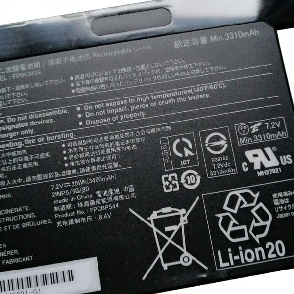 Original laptop battery for FUJITSU FPB0343S,CP777632-01,FPCBP544