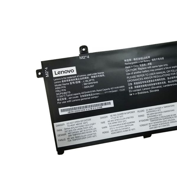 Original laptop battery for LENOVO SB10K97645 SB10K97646 02DL007 02DL008