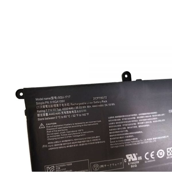 Original laptop battery for Hasee SIMPLO SQU-1717,916QA108H