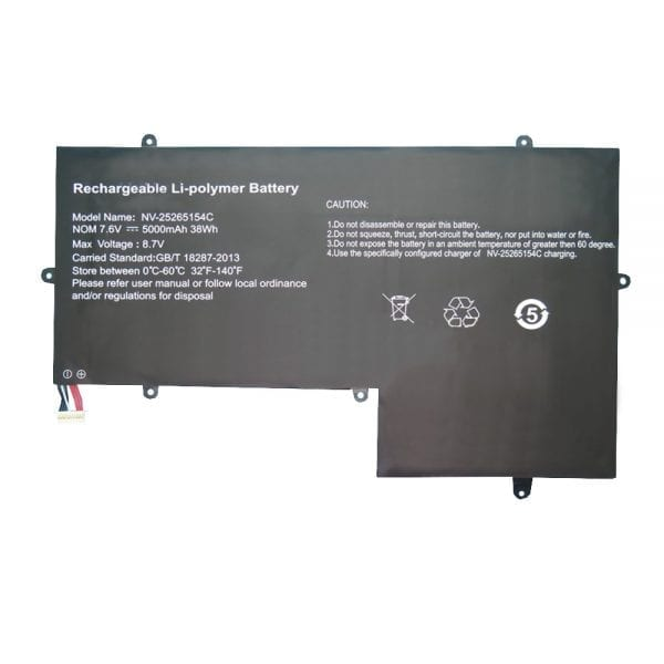 Original laptop battery for JUMPER Geobook 3